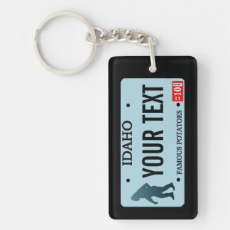 Idaho Sasquatch License Plate Single-Sided Rectangular Acrylic Key Ring