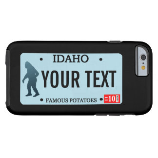 Idaho Sasquatch License Plate Tough iPhone 6 Case
