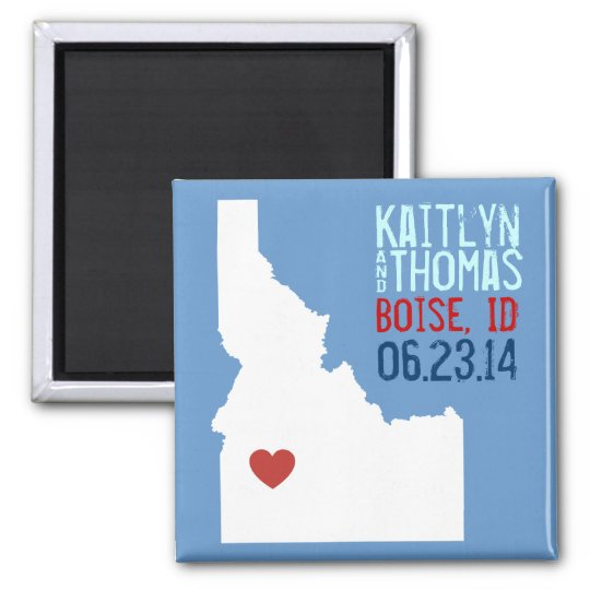 Idaho Save the Date - Customisable City Magnet