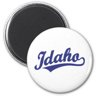 Idaho script logo in blue refrigerator magnets