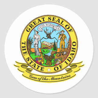Idaho Seal Round Sticker
