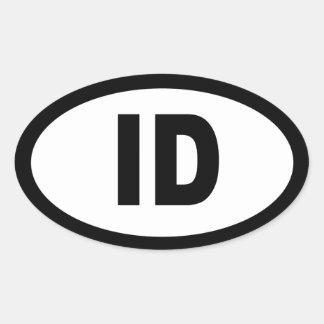 Idaho - sheet of 4 oval car stickers