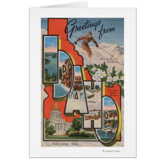 Idaho (Skiing)Large Letter ScenesIdaho Card
