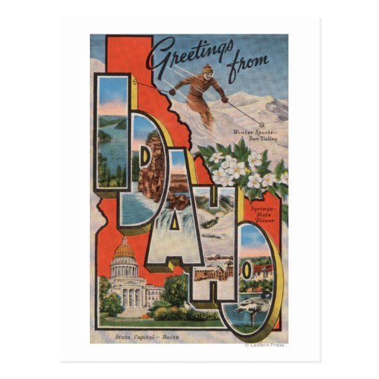 Idaho (Skiing)Large Letter ScenesIdaho Postcard