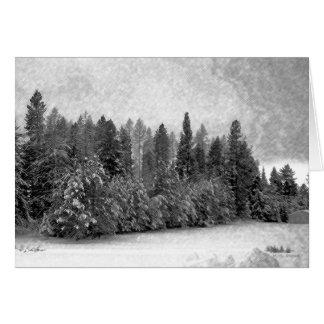 Idaho Snow Greeting Card