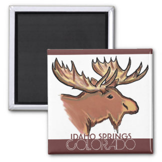 Idaho Springs Colorado brown moose magnet