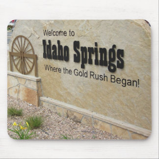 Idaho Springs Colorado Welcome Sign Mouse Pads