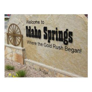 Idaho Springs, Colorado Welcome Sign Postcard