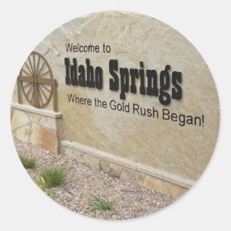 Idaho Springs, Colorado Welcome Sign Round Sticker