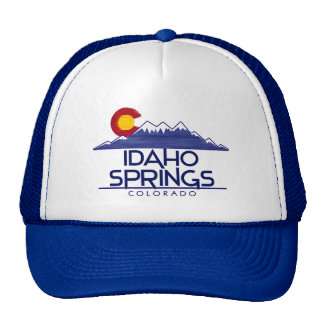 Idaho Springs Colorado wood mountains hat