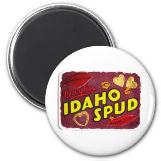 Idaho Spud candy wrapper 6 Cm Round Magnet