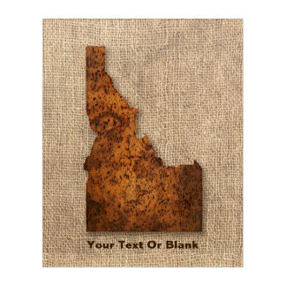 Idaho Spud Map Acrylic Wall Art