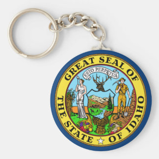 Idaho State Flag Basic Round Button Key Ring