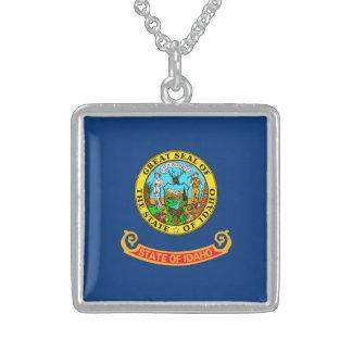 Idaho State Flag Design Square Pendant Necklace