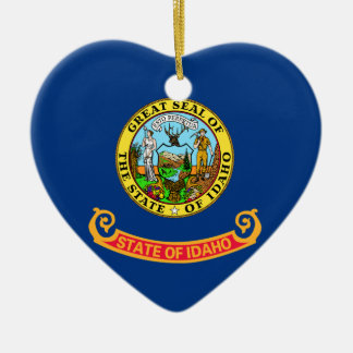 IDAHO STATE FLAG HEART ORNAMENT