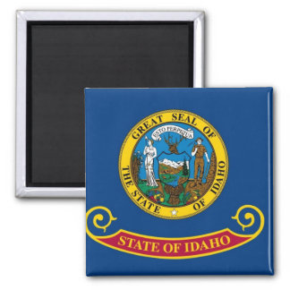 Idaho State Flag Square Magnet