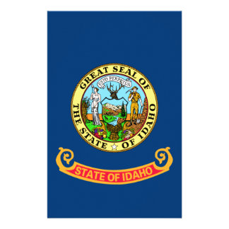 Idaho State Flag Stationery Paper