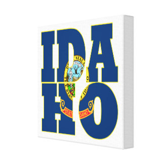 Idaho state flag text canvas print