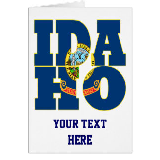 Idaho state flag text card