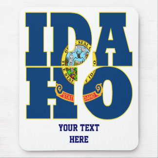 Idaho state flag text mouse mat