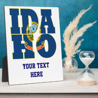 Idaho state flag text plaque