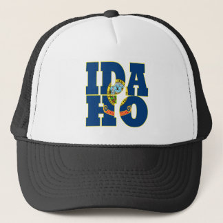 Idaho state flag text trucker hat