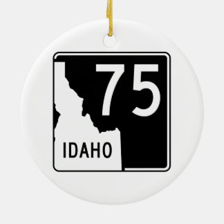 Idaho State Highway 75 Christmas Ornament