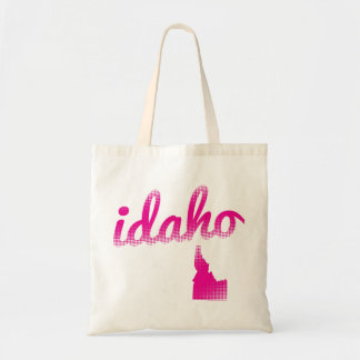 Idaho state in pink tote bag