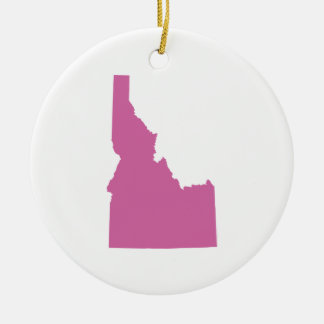 Idaho State Outline Round Ceramic Decoration