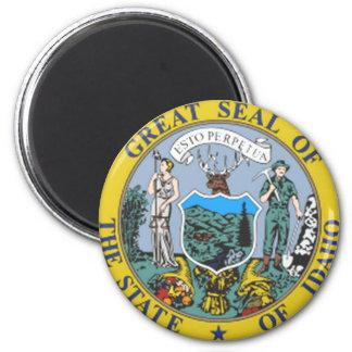 Idaho State Seal 6 Cm Round Magnet