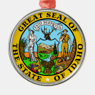Idaho state seal america republic symbol flag christmas ornament