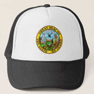 Idaho state seal america republic symbol flag trucker hat