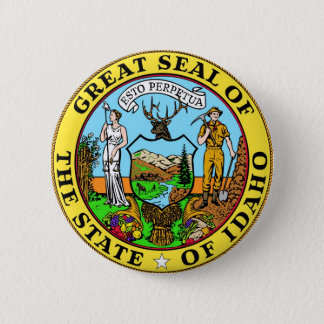 Idaho State Seal and Motto 6 Cm Round Badge