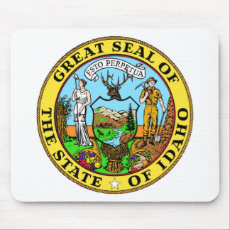 Idaho State Seal and Motto Mouse Mat