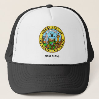 Idaho State Seal and Motto Trucker Hat