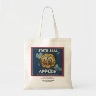 Idaho State Seal Apples Canvas Bag