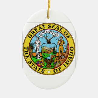 Idaho State Seal Ceramic Oval Decoration