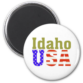 Idaho USA! 6 Cm Round Magnet