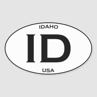 Idaho USA Oval Sticker