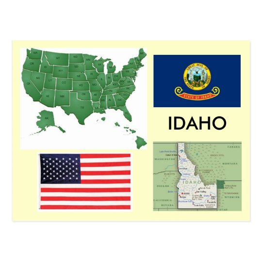 Idaho, USA Postcard
