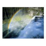 Idaho. USA. Rainbow in spray above Upper Mesa