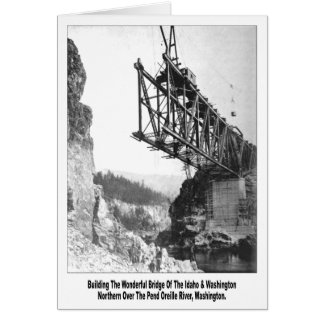 Idaho Washington Northern Railroad Bridge Card