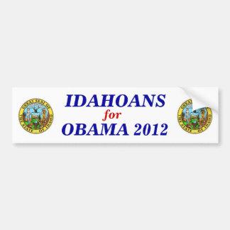 Idahoans for Obama 2012 sticker Bumper Sticker