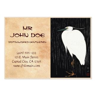 Ide Gakusui White Heron in Rain ukiyo-e japanese Pack Of Chubby Business Cards