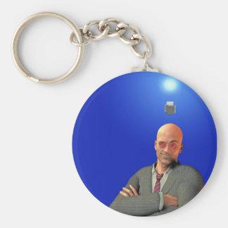 idea basic round button key ring
