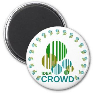 idea crowd 6 cm round magnet