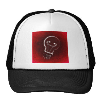 Idea Light-bulb, Smile, smiley face,Lightbulb, red Cap