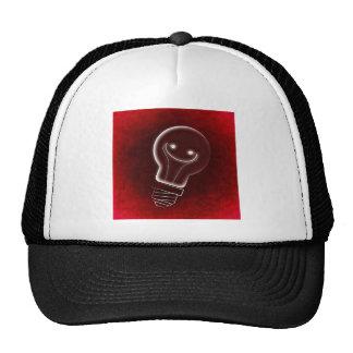 Idea Light-bulb, Smile, smiley face,Lightbulb, red Cap