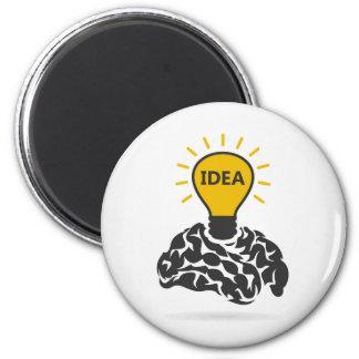 Idea of a brain 6 cm round magnet