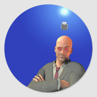 idea round sticker
